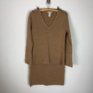 NEW Chiara Marconi Italian Wool Set Sweater Skirt